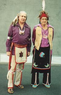 Chief Oren Lyons and Tadadaho Leon Shenandoah at Rio 1992