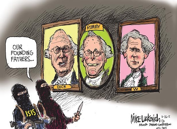 Mike Luckovich cartoon, 03/27/15: Forebears - Our Founding Fathers