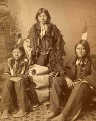 Wounded Yellow Robe, Timber Yellow Robe, and Henry Standing Bear, 1883
