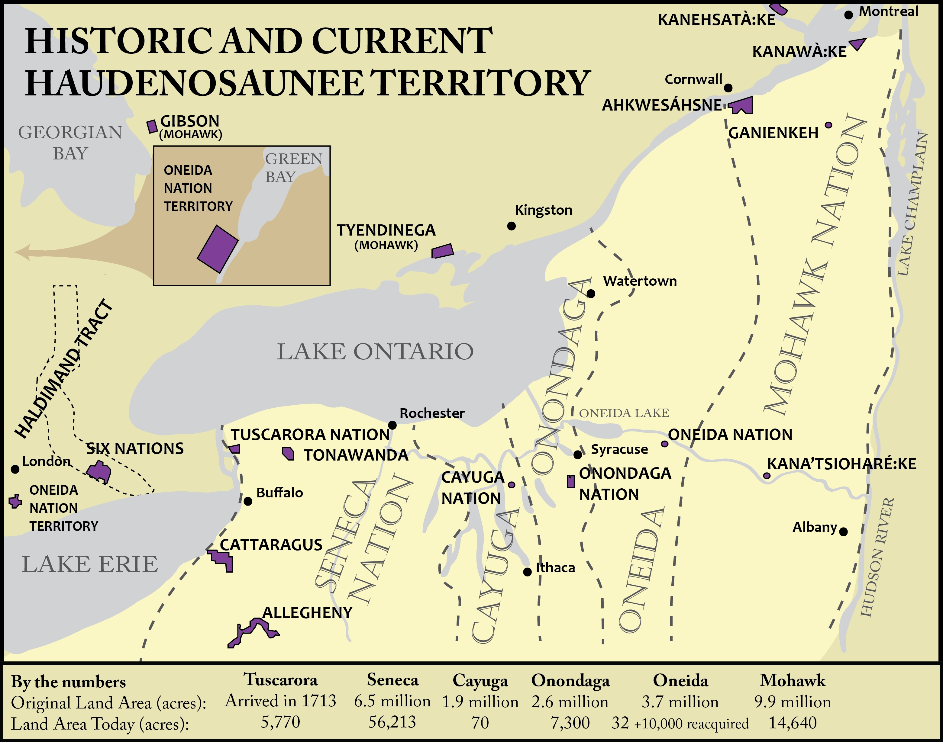 Historic and Current Haudenosaunee Territory detail