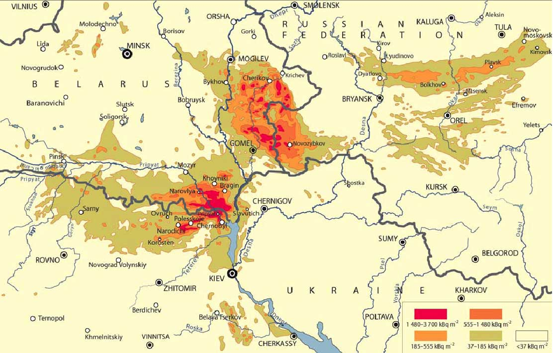 Health Effects Of Chernobyl Years After The Reactor - Us radiation levels map