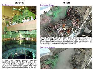 Before/After 11 March 2011 Tsunami That Caused 3 Meltdowns at Fukushima Dai-ichi NPP