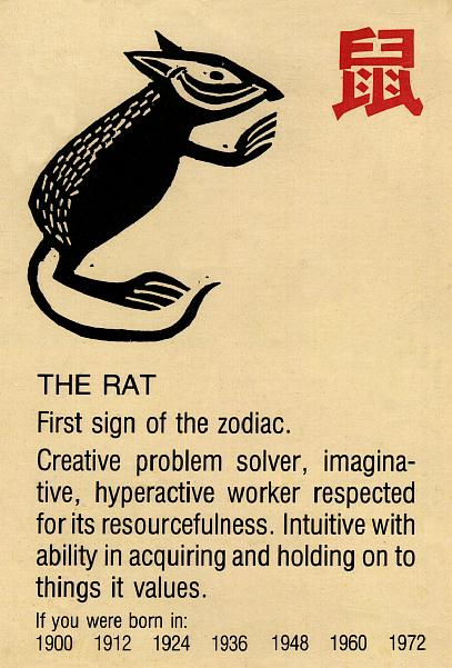 Year of the Rat, First Sign of the Zodiac