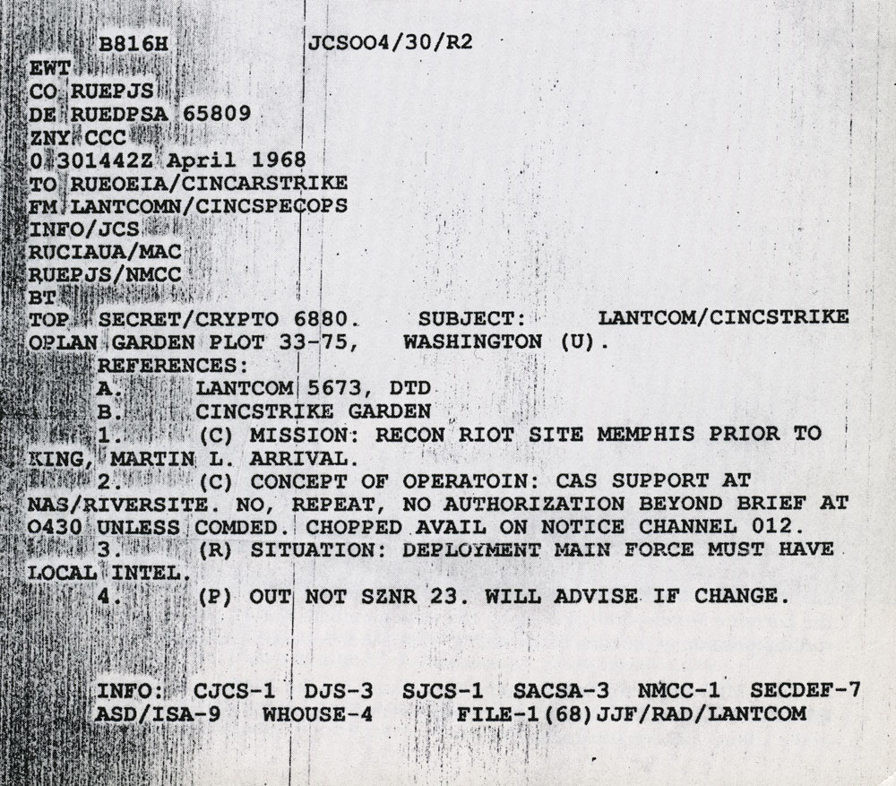 """... text page 424. Scott wrote further, citing the pictured cable: """"The time group 301442Z April 1968 begins with 30, which would normally be the date."""